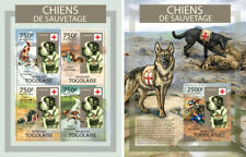 Dogs Pets Rescue Animals Red Cross Hunde Fauna Togo MNH stamp set