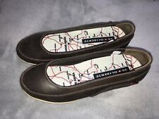 Ladies Shoes Size 6 Brown Leather Flats Oliberte