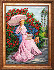 """Bead Embroidery kit GOLDEN HANDS BB-002 - """"n the rose garden"""