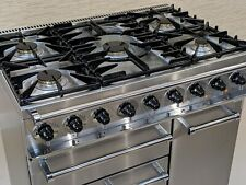 FALCON DELUXE FSD 90CM DUAL FUEL RANGE COOKER IN STAINLESS STEEL & CHROME A243