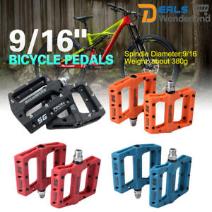 9/16 Mountain Road Cycling Bike Pedals Flat Platform Bicycle Pedals