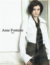 PUBLICITE ADVERTISING 016  2003  Anne Fontaine  haute couture