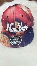 King Ice Galaxy Baseball Cap Snapback New York Pink Purple New
