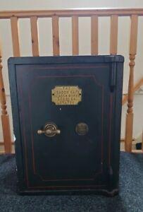 Antique Victorian Vintage Beacon Safe Cast Iron Floor Safe no keys Beacon Works