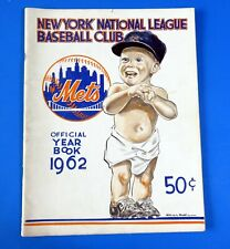1962 NY METS OFFICIAL YEARBOOK 1st YEAR June 25th Roster ~ BASEBALL