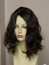 VIRGIN DARK BROWN EUROPEAN HUMAN HAIR WIG 12 ' #2/4 NATURALLY WAVY MED/LARGE CAP