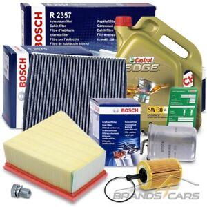 BOSCH-FILTER INSPEKTIONSPAKET+5L CASTROL 5W-30 LL SEAT IBIZA 5 6J 1.4 1.9 08-10