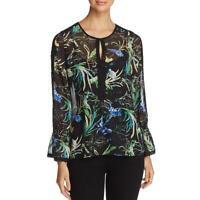 Le Gali Womens Carrie Chiffon Floral Print Sheer Blouse Top BHFO 8427