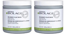 (Pack of 2) Matrix Biolage RAW Re-Bodify Clay Face Mask - Size : 14.4 oz