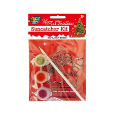 Christmas Suncatcher Kit Great Kids DIY Creation Xmas Holiday Party Decoration