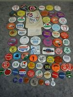 Large Lot of Vintage 1960's-1990's Pins-Political-Advertising
