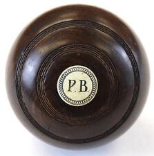 """Paul Desmond Brown (P.B.) Jaques & Son Lawn Bowling Ball"""