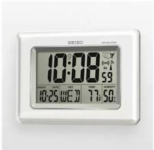 Seiko R-Wave Atomic Digital Clock - Qhr020Wlh New!