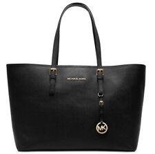 Michael Kors Jet Set Travel Black Medium Leather Tote Bag Hand bag