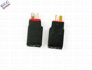 Convert LiPo Deans T Batteries To Traxxas Connectors - Set of 2 - Brand New
