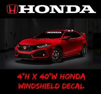 HONDA Windshield Window, sport Decal Vinyl Sticker Race honda civic accord sol