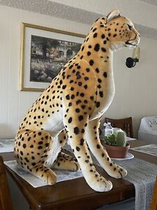"Melissa And Doug 32"" Jumbo Plush Cheetah Realistic Life Size Toy"