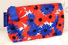 Estee Lauder Red Blue & White Patterned Silky Lined Make Up Bag New +Motifs