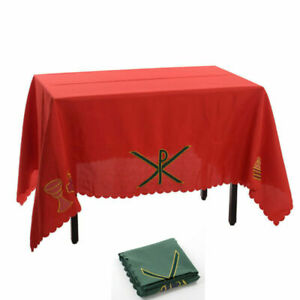 1pc Church Altar Table Cloth Communion Table Runner with PX Chalice Pattern