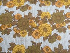 stunning vibrent 1970s large piece of  fabric  ,89 cm  width by 153 in lengh