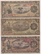 Three 1-12-14 and 5-2 15 Mexico Revolution Veracruz Banknotes (S1101,1104,1108)