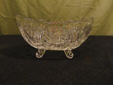 Vintage Anna Hutte Bleikristal Lead Crystal Footed Trinket Dish Candy Nut Bowl