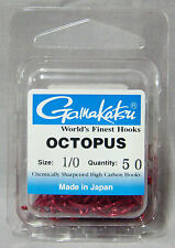 Gamakatsu Octopus Red 1/0 Chemically Sharpened Hooks - *Qty 50* Saltwater