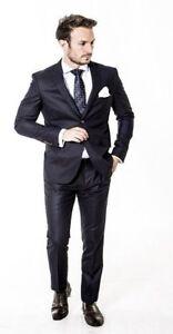 Mens Formal Suit Designer Slim Fit Tailored Suit Black Check Wholesale Price