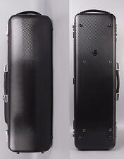 4/4 Violin Case Oblong Box Mixed carbon fiber Case Black Sheet Bag Strong Lock