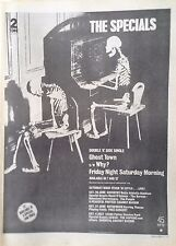 THE SPECIALS - GHOST TOWN SINGLE. JUNE 1981 RECORD MIRROR FULL-PAGE ADVERT UK