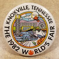 """1982 World's Fair Knoxville Tennessee Vintage 3"""" Pin Badge Button"""