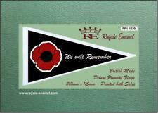 Royale Antenna Scooter Pennant Flag - BLACK POPPY WE WILL REMEMBER - FP1.1229