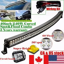 40inch 240W Curved LED Work Light Bar Offroad Jeep Truck Boat Driving Fog 4WD 42