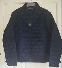Men's designer Peaceful hooligan navy bomber quilted drop jacket size Large