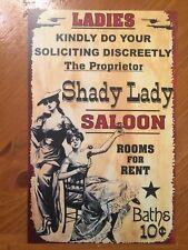 Tin Sign Vintage Shady Lady Saloon
