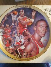 "Upper Deck Michael Jordan ""ROOKIE YEAR"" Plate w/ COA 1996 NBA 8''"