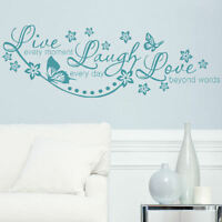 FLOWER WALL STICKERS! interior home floral transfer vinyl decal Large decor art