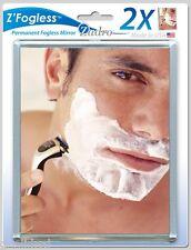 Zadro Z'Mirror 2X Fogless Suction Cup Shower Shave Make Up Fog Free Mirror ZM01