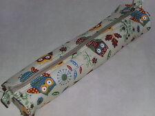 BNWT-Hobby Gift-Owl Design on Beige Fabric Knitting Needle Case