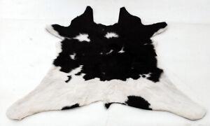 """Rare Cowhide Rugs Calf Hide Cow Skin Rug (20""""x33"""") Black & White CH8355"""