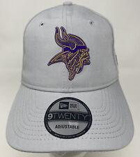 New Era MLB 9Twenty MINNESOTA VIKINGS Gray 920 Strapback Hat Team Headwear