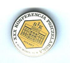 POLISH pin BEEKEEPING CONGRESS APIMONDIA BEES badge white colour