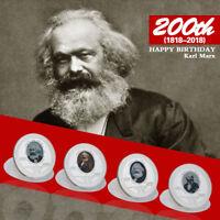 WR 2018 Karl Marx Silber Gedenkmünze Medaille 200. Geburtstag Souvenirs
