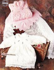 BABY LACY DRESS &  SHAWL / birth to 9 months - 4ply - COPY baby knitting pattern