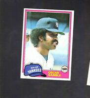 1981 Topps #139 OSCAR GAMBLE New York Yankees Baseball Card