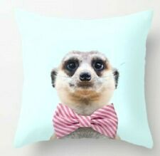 Meerkat  cute super CUSHION COVER  43 X 43 cm fast post by trusted UK seller