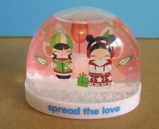 "MOMIJI Snow Globe ""Spread The Love"" Christmas, Original Box! Bubble Belle Dolls"