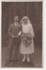 Social History Wedding Group, Ward's Studio Reading RP Postcard #36, B579