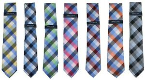 Nautica Checkered Design Men's Neck Tie NWT - Choose Color