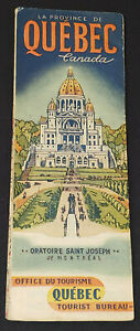 1941 - PROVINCE OF QUEBEC (CANADA) - HIGHWAY AND TOURIST - MAP - ORIGINAL